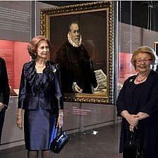 Η βασίλισσα Σοφία εγκαινίασε την έκθεση «Ο φιλικός κύκλος του Γκρέκο στο Τολέδο» στο Μουσείο Μπενάκη