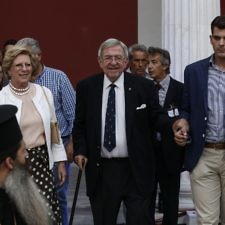 Ο βασιλιάς Κωνσταντίνος στην εκδήλωση της ΕΟΕ στο Ζάππειο Μέγαρο