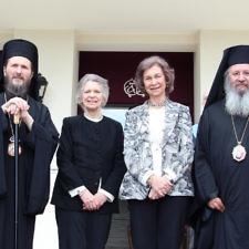 Το προσκύνημα της βασίλισσας Σοφίας και της πριγκίπισσας Ειρήνης ενώπιον του ιερού Λειψάνου της Αγίας Ελένης