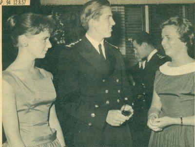 Καλοκαίρι 1957, επίσκεψη Κωνσταντίνου στην Δανία.