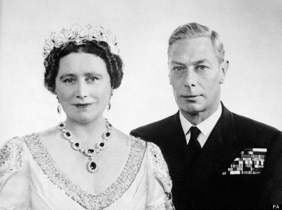 King George VI and Queen Elizabeth commemorating their twenty-fifth wedding anniversary